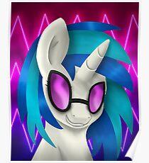 Vinyl Scratch Portrait (With Glasses) Poster