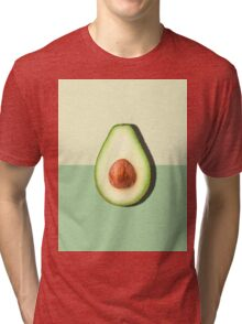 Avocado Half Slice Tropical Fruit Tri-blend T-Shirt