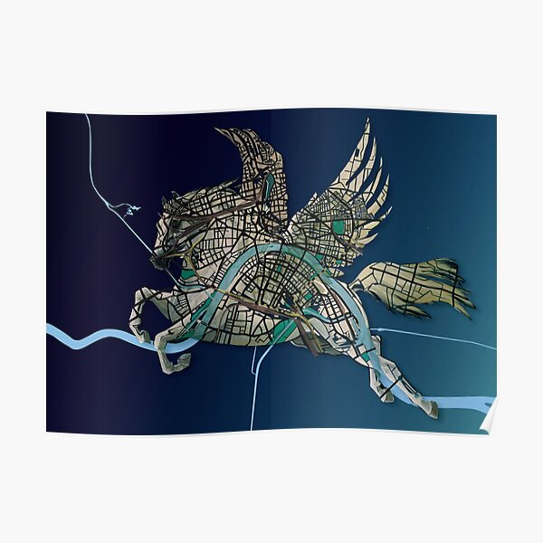 Basel Citymap Artwork | PEGASUS Poster