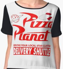 Pizza Planet Women's Chiffon Top