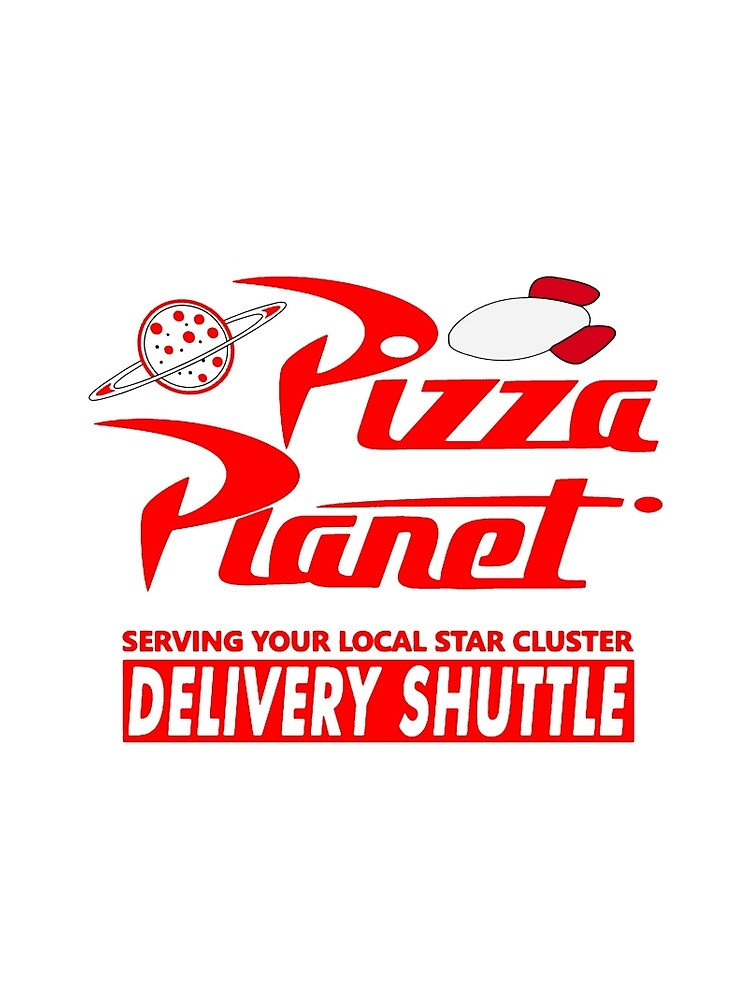 Pizza-Planet von Noveltee-Shirts
