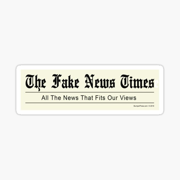 The Fake News Times Sticker