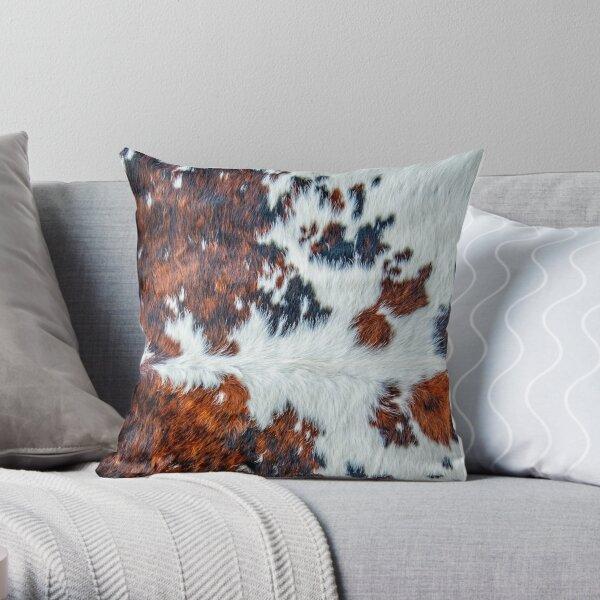 Modern cowhide decor pattern Throw Pillow