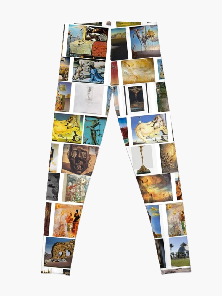 Alternate view of #collection, #pattern, #art, #design, paper, abstract, illustration, mosaic, decoration, old Leggings