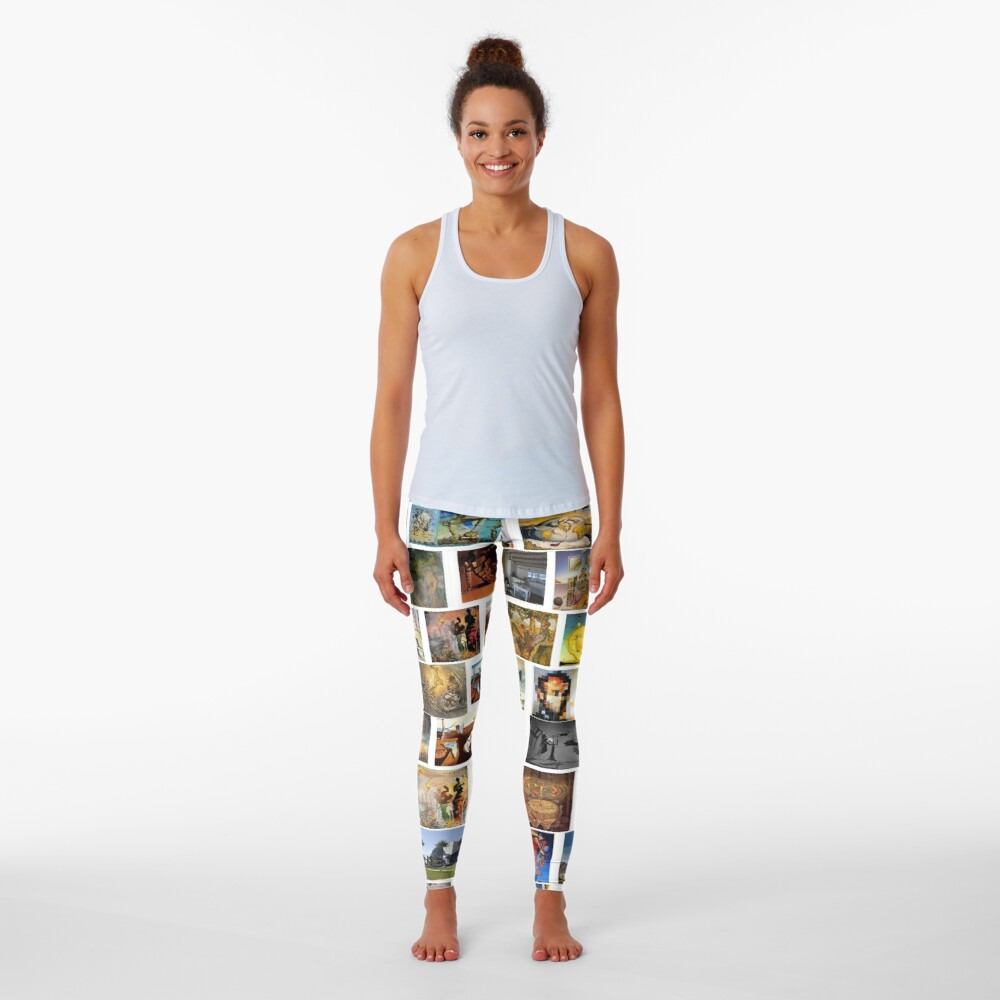 #collection, #pattern, #art, #design, paper, abstract, illustration, mosaic, decoration, old Leggings