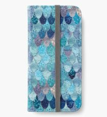 SUMMER MERMAID DARK TEAL by Monika Strigel iPhone Wallet/Case/Skin