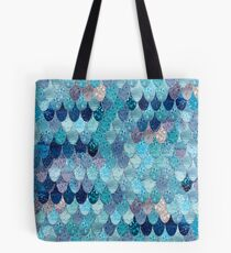 SUMMER MERMAID DARK TEAL by Monika Strigel Tote Bag