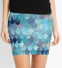 SUMMER MERMAID DARK TEAL by Monika Strigel Mini Skirt