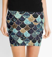 MYSTIC MERMAID BLUE Mini Skirt