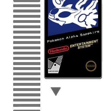 Nes Cartridge: Pokemon Alpha Sapphire by PowerArtist