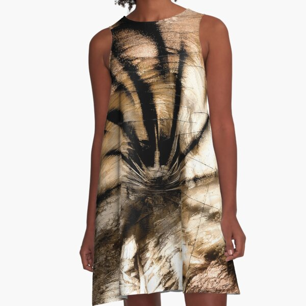 Vortex (tiger) A-Line Dress