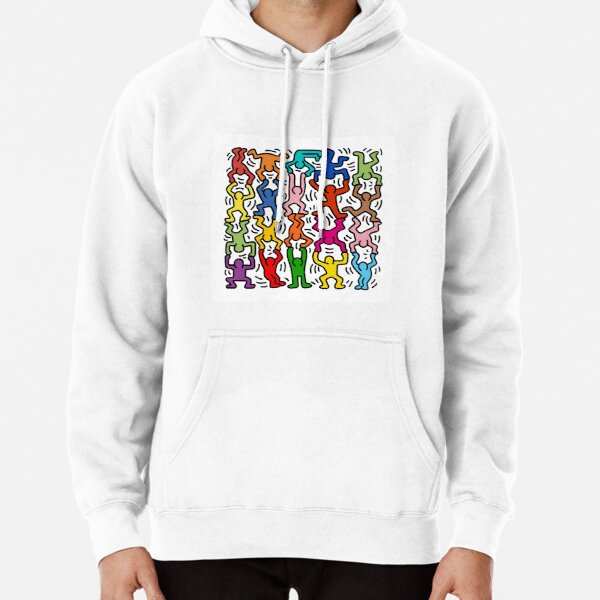 Keith Haring Piled Men Hoodie