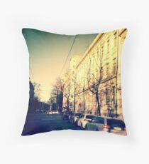 street in Helsinki Throw Pillow