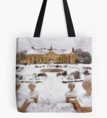 Reigate Priory School in wintertime Tote Bag