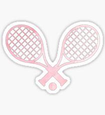 Tennis Racket Pink Sticker
