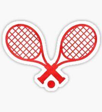 Tennisschläger Rot Sticker