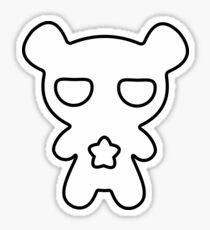 Lazy Bear Black and White Sticker