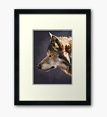 Wolf painting Framed Print
