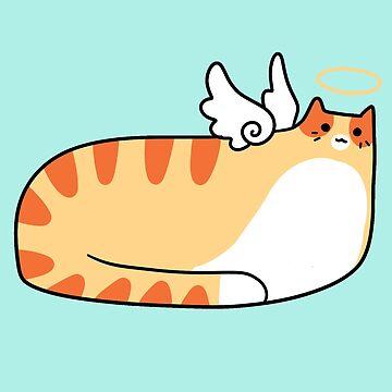 Chubby Angel Tabby Cat by SaradaBoru