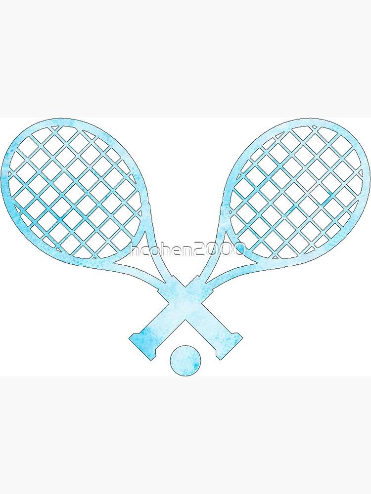 Tennisschläger Hellblau von hcohen2000