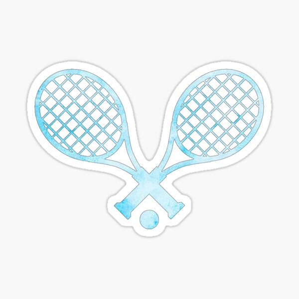 Tennis Racket Light Blue Sticker