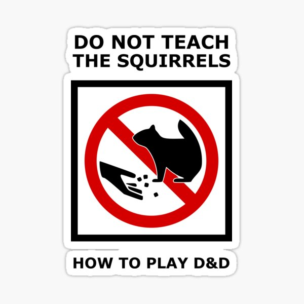 DnD Squirrels Sticker