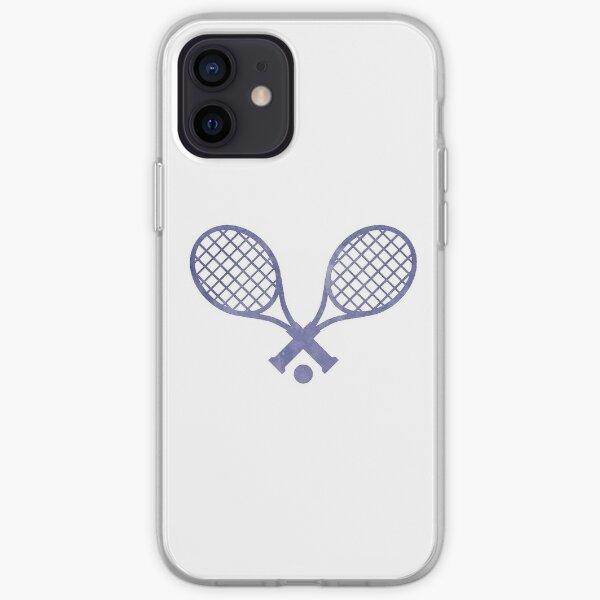 Raqueta De Tenis Púrpura Funda blanda para iPhone