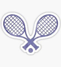 Tennis Racket Purple Sticker