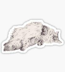 Weird Fluffy Cat  Sticker