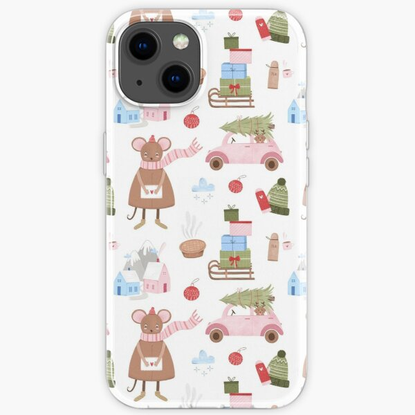 New year Chrirstmas Xmas Pattern iPhone Soft Case