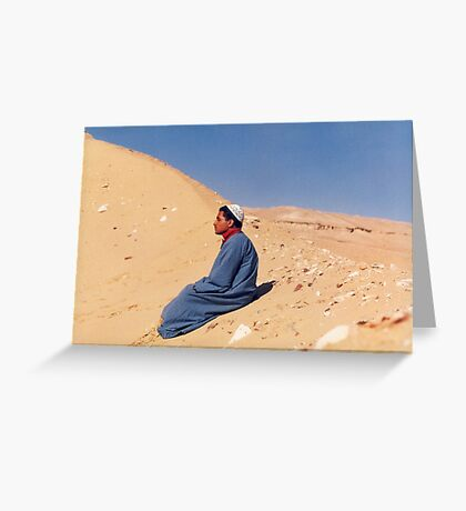 Young Man in Egypt Greeting Card