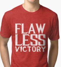 Flawless Victory, Fatality, Retro, Arcade, Video Game, Scorpion, MK, Kombat Mortal, Combat, Fighting, Versus, 90s, Vintage, Flawless Tri-blend T-Shirt