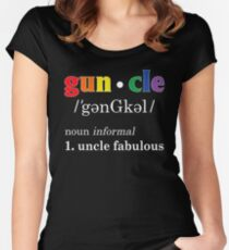 Gay Uncle Definition Shirt Gay Uncle is Fabulous Pride Shirt Women's Fitted Scoop T-Shirt