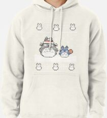 Santa-Totoro Weihnachtsstrickjacke Hoodie