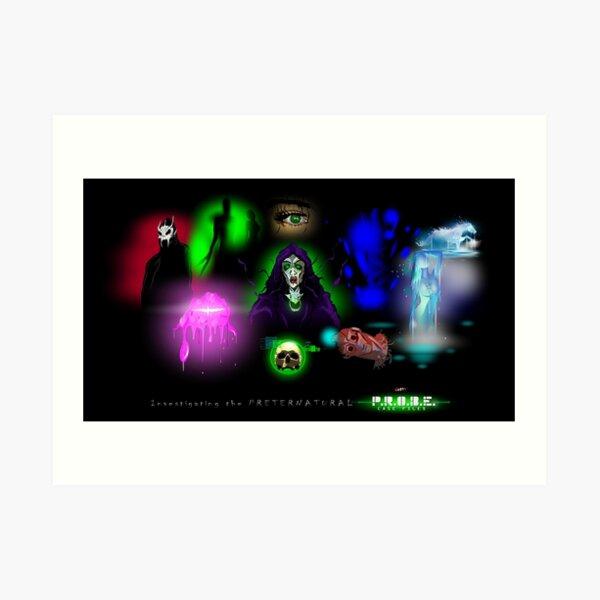 P.R.O.B.E. Case Files: Monsters! BBV (Liz Shaw) Art Print