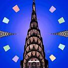 Chrysler Building on Blue by steeber
