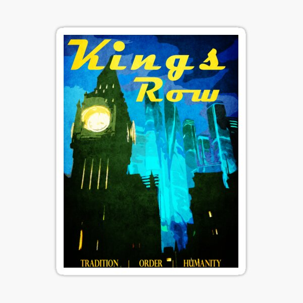 King's Row Vintage Travel Poster Sticker