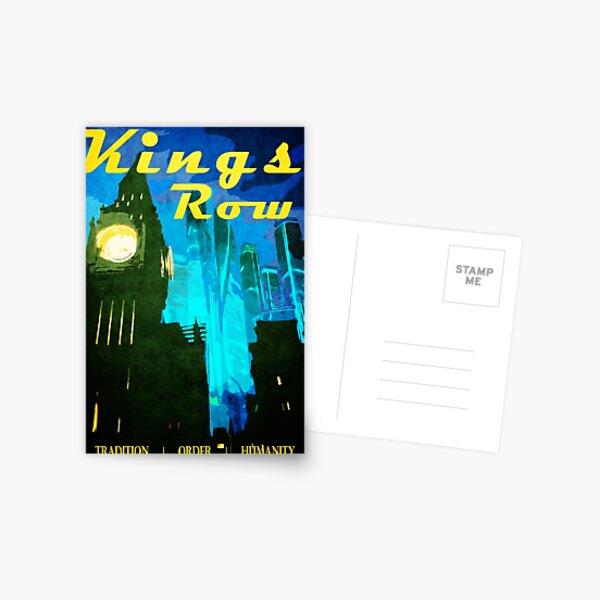 King's Row Vintage Travel Poster Postcard