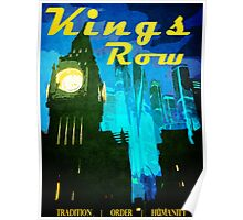 King's Row Vintage Travel Poster Poster