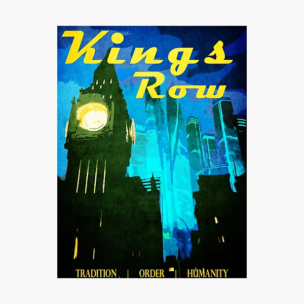 King's Row Vintage Travel Poster Photographic Print