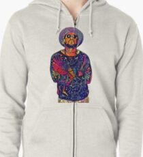 Abstract Schoolboy Q Zipped Hoodie
