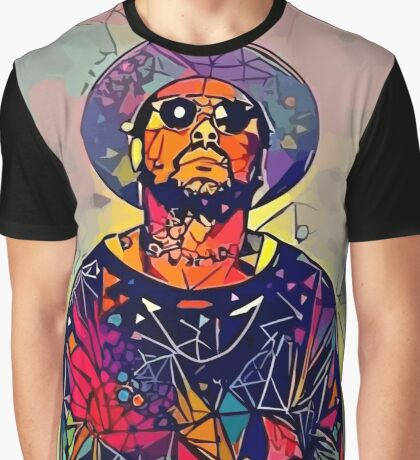 Abstract Schoolboy Q Graphic T-Shirt