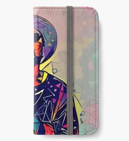 Abstract Schoolboy Q iPhone Wallet