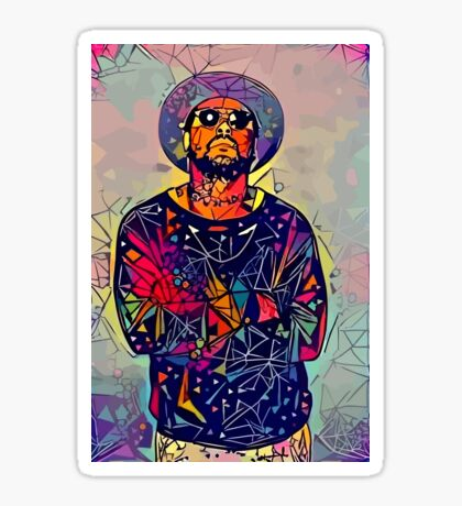 Abstract Schoolboy Q Glossy Sticker