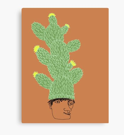 Cactus Hat Hipster Street Wear Canvas Print