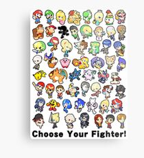 Super Smash Bros. All 58 Characters! Choose Your Fighter!! Metal Print