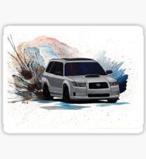 Subaru Forester XT Watercolor Drift Painting Sticker