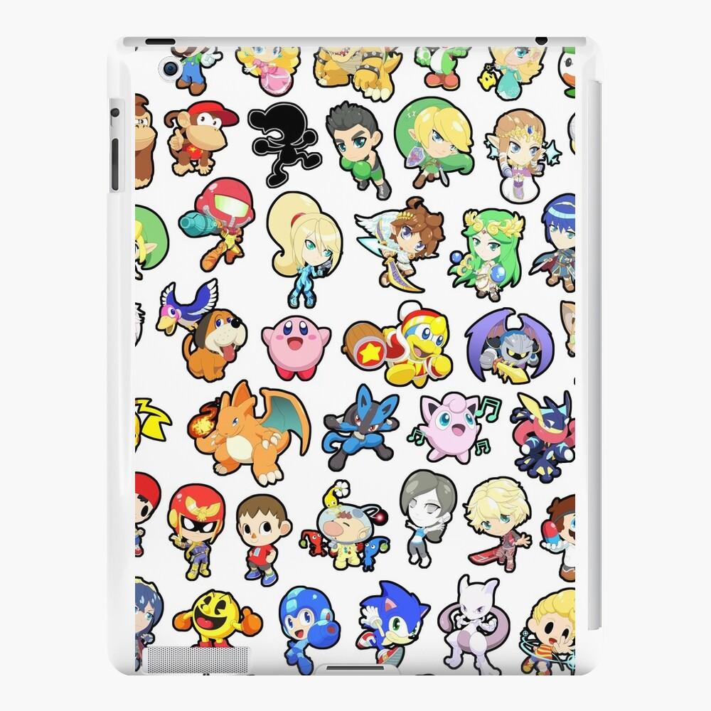 Super Smash Bros. Alle 58 Charaktere !! iPad-Hüllen & Klebefolien