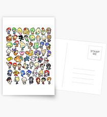 Super Smash Bros. All 58 Characters!! Postcards