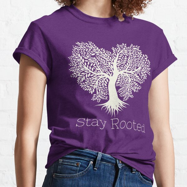 Stay Rooted - green heart tree Classic T-Shirt